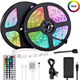 LED Light Strip 10m, Renovo LED Strip 32.8ft 300LEDs 5050SMD RGB LED Strip Lights with Remote Control and Power Supply for Be