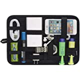 Electronics Organizer, JOTO Travel Gear Management Organize Bag for Electronics Accessories Tools Hard Drive Memory Card Flas