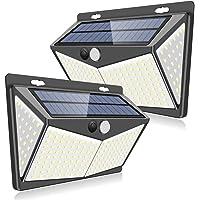 【最新版208LED】ZEEFO センサーライト ソーラーライト 4面発光 屋外照明 人感センサー 3つ点灯モード 防水…