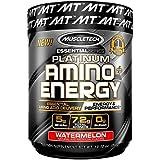 MuscleTech Essential Series Platinum Amino Plus Energy BCAA Powder, Watermelon, 10.15 Ounce, 30 Serving