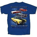 1959 to 1987 Chevy El Camino Pickup Truck T-Shirt 100% Cotton Preshrunk - Blue
