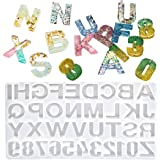 DIY Casting Mold,Outgeek Backward Number Alphabet Jewelry Casting Mold Reversed Letter Jewelry Making Mold DIY Sugar Cake Cra
