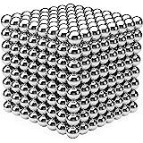YOIKO マグネットボール 立体パズル 直径5mm 教育工具 DIY工具 脳開発 ストレス解消 おもちゃ シルバー (銀色512個 進級版)