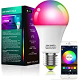 Alexa Compatible Smart Light Bulb with Remote, Vanance A19 E27 10W 800LM WiFi & Bluetooth Dimmable White and Color Changing L
