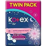 Kotex Air Super Ultrathin 32cm Pads Twin Pack, 28 count