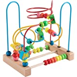 Joqutoys Toddlers First Bead Maze Roller Coaster Animal Circle Toys Educational Abacus Beads Game for Boys Girls Baby Gift