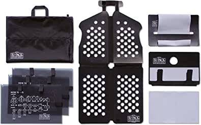 [SU-PACK HARD PLUS M] スーツ/シャツ/ネクタイを収納するガーメントバッグ(スーパック ハードプラスM) All in One 7点セット(Mサイズ) 機内持ち込み可