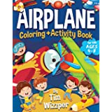 Airplane Activity Book for Kids Ages 4-8: Fun Airplane Activities for Kids. Travel Activity Workbook for Road Trips, Flying a