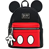 Loungefly x Mickey Suit Mini Backpack Black-Red-White