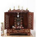 TAM Creatio Wooden Pooja Mandir |Indian| |Hindu| |Decoration| |Puja| |Cabinet| |Temple| |Bhagwan| |Stand| |Mandapam| |Wall| |