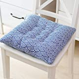 Seat Cushion,Breathable Cotton and Linen Chair Cushion,Soft Multi Color Thick Non-Slip Straps Seat Pad Indoor for Office Comp