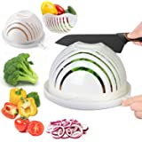 ESEOE Salad Cutter Bowl, Salad Bowl Family Wooden Base Upgraded Vegetable Cutter Bowl for Salad in 60 Seconds, Fast Fruit Veg