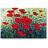 ALAGO Poppy Flower Painting Doormats Entrance Front Door Rug Outdoors/Indoor/Bathroom/Kitchen/Bedroom/Entryway Floor Mats,Non
