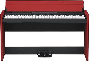 KORG 電子ピアノ LP-380-BKR 88鍵 ブラック & レッド