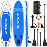 MaxKare Stand Up Paddle Board Inflatable SUP W Stand-up Paddle Board Accessories Backpack Paddle Leash Pump Non-Slip Deck ISU
