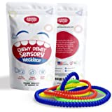 Everyday Educate Sensory Chew Necklace for Boys and Girls - Durable Chew Necklace for Kids with Autism ADHD - Oral Sensory Ch
