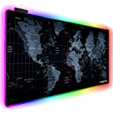 Extended RGB Gaming Mouse Pad, Extra Large Gaming Mouse Mat for Gamer, Waterproof Office DEST Mat with 10 Lighting Mode, for