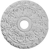 Ekena Millwork CM19SP 19 7/8-Inch OD x 3 5/8-Inch ID x 1 1/4-Inch P Spring Leaf Ceiling Medallion