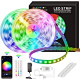 LED Strip Lights, 50ft/15M 5050 RGB 270 LEDs Strip Lights Non-Waterproof Rope Music Sync DIY Colors Changing Timing with IR R
