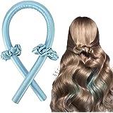 Heatless Hair Curlers For Long Hair To Sleep In Overnight, No Heat Silk Curls Headband, Soft Foam Hair Rollers, Curly Ribbon