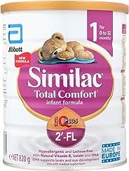 Abbott Similac Total Comfort 2'-FL Stage 1 Infant Milk Formula, 0-12 months, 820g