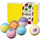 """Lagunamoon Bath Bombs Gift Set""""Don't Worry,Be Happy"""" Pack of 6 Natural Organic Handmade Fizzy Bath Bombs with Essential Oils,"""