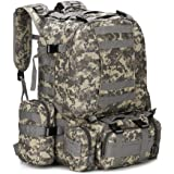 WintMing 70L Large Camping Hiking Backpack Tactical Military Molle Rucksack for Trekking Traveling Oxford Waterproof Mountain