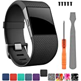 CreateGreat for Fitbit Surge Bands, Band Strap for Fitbit Surge Watch Fitness Tracker Original Wrist Band Accessories Small&L