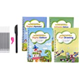 segolike Reusable Magic Calligraphy Handwriting Copybook Set Kids Practice Writing Kit - Alphabet Arithmetic Digital Drawing,