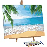 VIGEIYA Paint by Numbers for Adults Beginners with Framed Canvas and Easel Including Acrylic Paints Paintbrushes 16x20in (Bea
