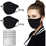 Dust Mask, Amazer Tec Activated Carbon Dustproof Mask, 2 pcs Cotton mask with 4 Extra Carbon Filters for Pollen Allergy Woodw