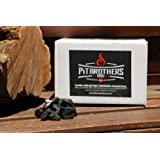 BBQ Charcoal – Slow Burning Charcoal Fuel for Barbeques – Premium Hibachi Style Charcoal – 3 kg Box – by Pit Brothers BBQ