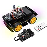 Freenove 4WD Car Kit with RF Remote (Compatible with Arduino IDE), Line Tracking, Obstacle Avoidance, Ultrasonic Sensor, Blue