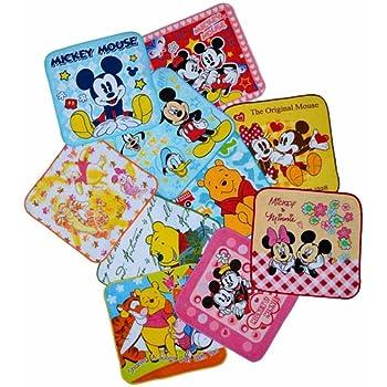 Disney(ディズニー) プチタオル(ハンカチタオル) 10枚(10柄アソート)セット