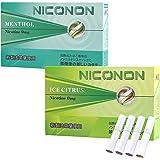 NICONON ニコノン 禁煙後の新しいカタチ。アイコス互換機 次世代ニコチン0mg加熱式スティック (メンソール&アイスシトラス, 各1箱ずつお試しセット)