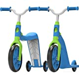 Swagtron K6 Toddler Scooter, Convertible 4-in-1 Ride-On Balance Trike & Training Bike for 2-5 Year Olds — ASTM F963 Certified