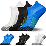 3 Pairs Compression Running Socks for Men & Women - TERSELY Low Cut No Show Athletic Socks for Stamina Circulation & Recovery