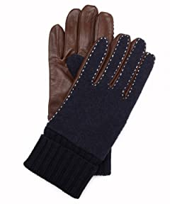 Sheep Leather Wool Glove 1437-699-1045: Navy