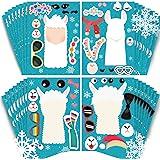 partyGO Make A Llama Stickers 24pcs, Llama party games, Cute Llama Make-an-Animal Face Stickers for Kids Llama Party Supplies