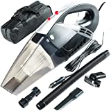 EPRO Portable Light Weight Car Vacuum Cleaner: High Power 120W/6000Pa | Corded Handheld Vacuum w/4.5m Cable and LED Light For