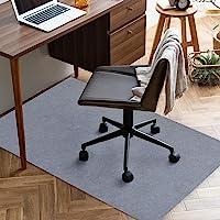 チェアマット 90×140cm 厚み4mm 床保護マット ズレない デスク 椅子 マット 吸音 床傷防止 滑り止 丸洗い…