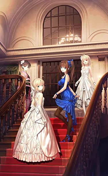 Fate  iPhone/Androidスマホ壁紙(740×1196)-1 - ドレスアップしているセイバー達。
