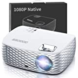 Projector, GooDee Native 1080P HD Video Projector 5500L, Touch Keys Home Theater Projector with 50,000 Hrs Lamp Life, Compati