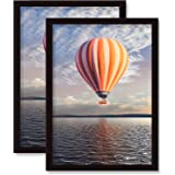 A4 Poster Frame Black 2 Pack Solid Wood Suitable For Document Poster Picture Frames Wall Mounting (Black, A4-2Pack)…