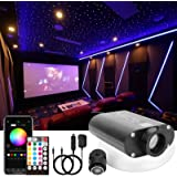CHINLY 16W RGBW LED Fiber Optic Light Star Ceiling Kit 450pcs (0.03in + 0.04in +0.06in) 13.1ft