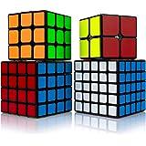 Findbetter 競技用キューブ 2345四点セット MOYU立体パズル 令和進化版 競技用 2x2 3x3x3 4x4x4 5x5x5 四個セット ギフト包装済み 黒素体 世界基準六色 こども 脳トレ 知育玩具 (黒素体 四点セット)