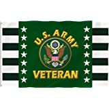 Bonsai Tree 3x5 Feet Us Army Veteran Flag - Vivid Color and Fade Resistant and Double Sided - Military Flags Polyester with B