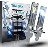 TECHMAX H1 LED Fog Light Bulb, 6000K CSP Chips 2800LM 60W DRL 320°Beam Angle Xenon White Pack of 2