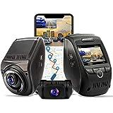 REXING V1P MAX 4K UHD Dual Channel Dash CAM, 3840X2160 Front+1080p Rear, WiFi GPS Car Dash Camera w/Night Vision, Supercapaci