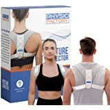 PHYSIO FACTORY Posture Corrector - Upper Back Brace for Men & Women - Premium Pregnancy Must-Have - Back Support for Pain Rel